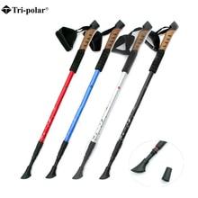 1pcs Nordic Walking Stick Hiking Trekking Poles Bastones Telescopic Pole Cane