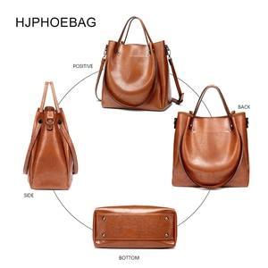 Image 4 - HJPHOEBAG المرأة حقيبة مصمم موضة بولي leather جلد كبير الحجم السيدات حقيبة ساعي جودة عالية سعة كبيرة حقيبة كتف YC023