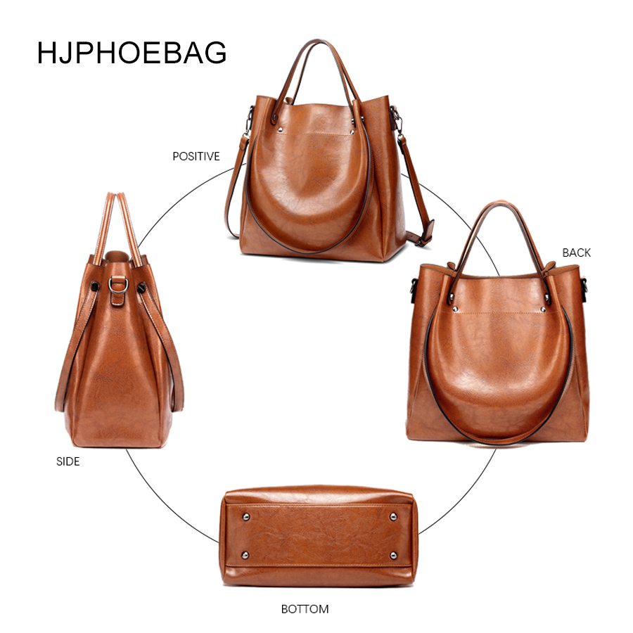 Image 4 - HJPHOEBAG women's bag designer fashion pu leather large size ladies Messenger bag high quality large capacity shoulder bag YC023-in Top-Handle Bags from Luggage & Bags