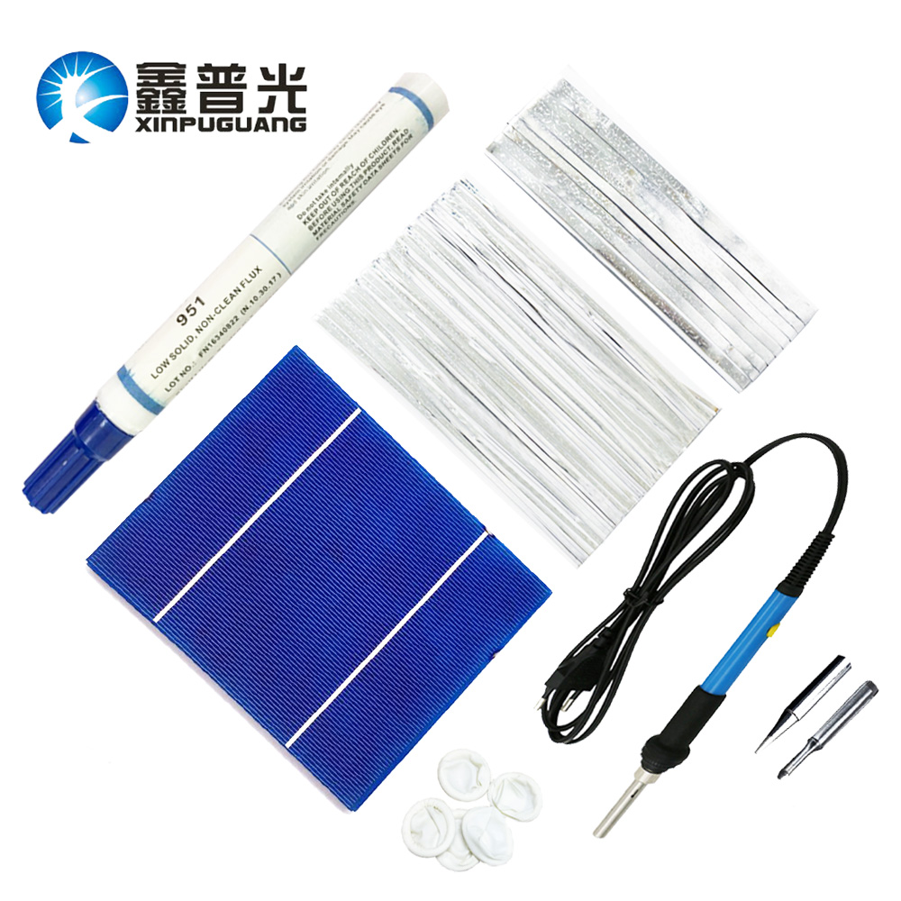 42PCS Polycrystaline Silicon solar cells solar panel 150W Photovoltaic DIy Components PV Bus/Tabbing Tab Wire Electric iron 704201 000 [ data bus components dk 621 0438 3s]