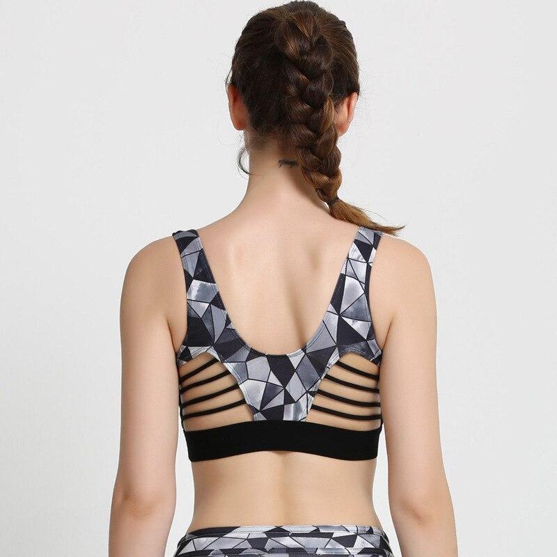 3dcb25c54 2017 Nova Colorido Floral Geométrico Imprimir Esporte Bras Para As Mulheres  top colheita senhora de fitness exercício de secagem rápida yoga empurrar  para ...