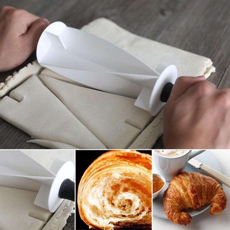 Multi-functional Croissant Dough Roller Cutter