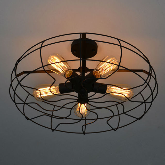 Vintage Retro Industrial Fan Ceiling Lights American country loft ...
