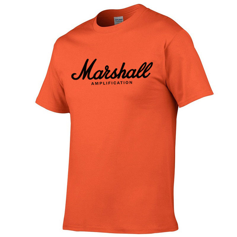 2019 new summer 100% cotton brand Marshall   t  -  shirt   men short-sleeved   t     shirt   street dance pocket fashion   T  -  shirt   Harajuku   shirt