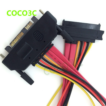 Free shipping 50cm Server 29PIN SAS HDD Extension Cable SFF-8482 SAS Cable 29 pin Male Port to Female Port with Screw Lock Panel