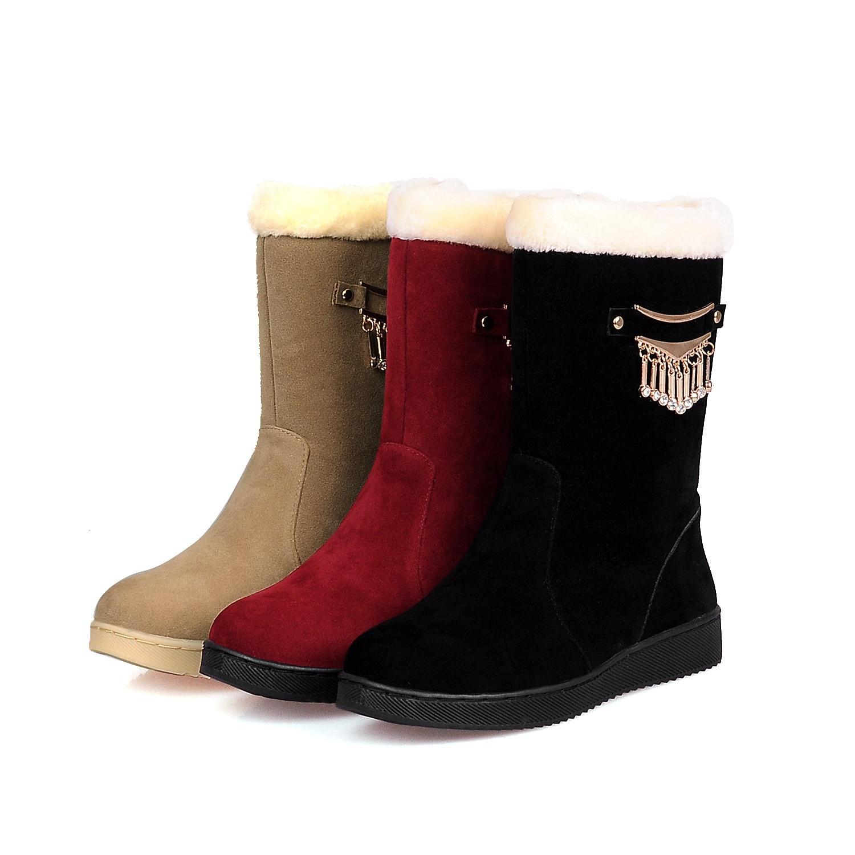 2017 Winter Metall Schnee Stiefel Casual Wear Non-slip Atmungsaktive Stiefel In Die Mode Mutter Baumwolle Stiefel Hx-082