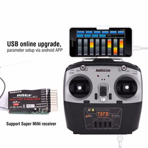 Image 5 - RadioLink T8FB 2.4GHz 8ch Transmitter R8ef receiver Remote Rontrol  TX&RX for RC Helicopter RC Drones aircraft quadcopter