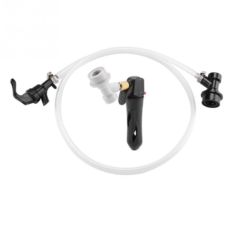Перезаряжаемые многоразовые Портативный Сверхлегкий воздуха CO2 Надувное Brew Пивной инструмент помпа для накачивания велосипедный мини-насос - Цвет: Черный