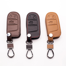 High quality 3 buttons leather  key case for Jeep Renegade smart cover car bag dust collector,Auto parts