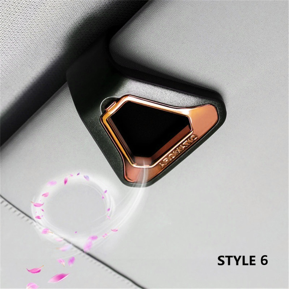 Car Air Freshener Gift Decoration Nature Perfume Smell Flavoring For Sun Visor Backseat Aromatherapy Auto Interior Accessories