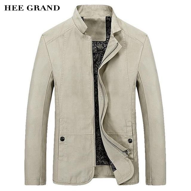 HEE GRAND 2017 Весна Осень мужская Куртка Повседневная Slim Fit Сплошной Цвет Пальто Молния Стоять Воротник Пиджаки MWJ1778