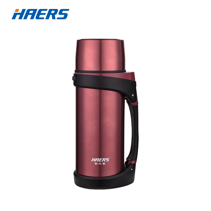 Brand Haers 1500ML Vacuum Flask Double Wall Stainless Steel Thermos With Portable  Handle GripBrand Haers 1500ML Vacuum Flask Double Wall Stainless Steel Thermos With Portable  Handle Grip