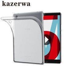 """קריסטל מקרה עבור Huawei MediaPad M5 8.4 """"10.8"""" מקרה רך TPU מגן מקרה עבור Huawei M5 עמיד הלם Tablet funda כיסוי + עט מתנה"""
