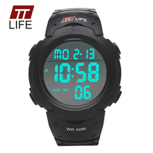 TTLIFE TS02 Mens Watches Digital 50m Waterproof LED Military Army Sports Runing Diving Wrist Watch Alarm for Women Men