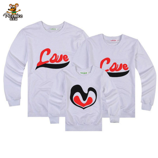 c10395af Family Clothing Fashion Mommy and Daughter clothes Father Son Matching  Clothing Dad Mom Boy Letter LOVE T-Shirt Family Look