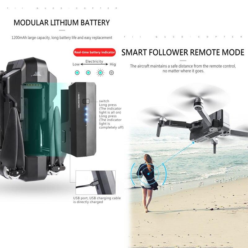 SJRC F11 GPS Drone Avec Wifi FPV 1080 P Caméra Brushless quadrirotor 25 minutes temps De vol Geste Contrôle Pliable Dron vs CG033 - 5
