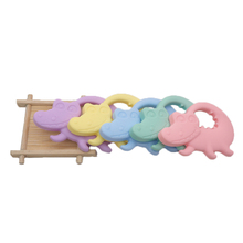 Chenkai 10PCS BPA Free Silicone Crocodile Teether Chewable Pendant Teething Baby Dummy Pacifier For DIY Newborn Shower Gifts