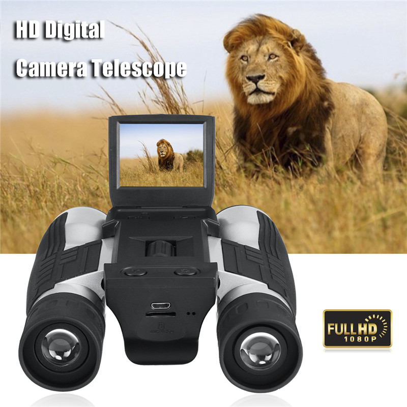 Suncore 1080p 5MP 12X HD LCD Screen Digital Camera Telescope Binoculars Video Camera COM ...