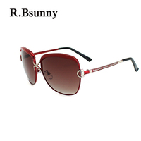 R.Bsunny R7691 Big frame women polarized sunglasses Fashion classic retro HD sun glasses Casual shopping driving UV400 goggles D