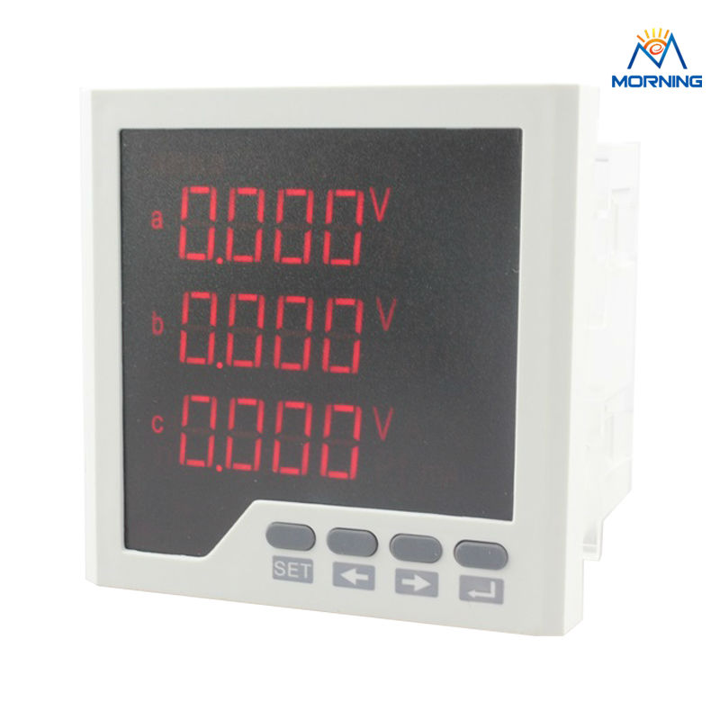 3D3-2O frame size 96*96mm three phase  LED Digital display multifunction meter with 2 Relay /alarm/switch output me 3h61 72 72mm led display 3 phase digital power factor meter support switch input and transmitting output