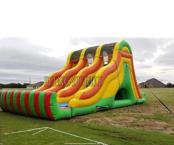 Giant slide inflatable water slide pool,inflatable climbing with water slide for free blower