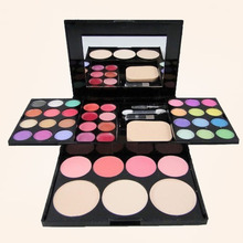 Profession Cosmetics 24 Eyeshadow Palette Set + 8 Lip Gloss +3 Foundation face powder +4 Blush Makeup Tool Kit