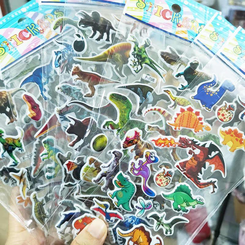 Crianças adesivos 40 folhas diferentes 3d inchado granel adesivos para menina menino presente de aniversário scrapbooking professores animais dos desenhos animados