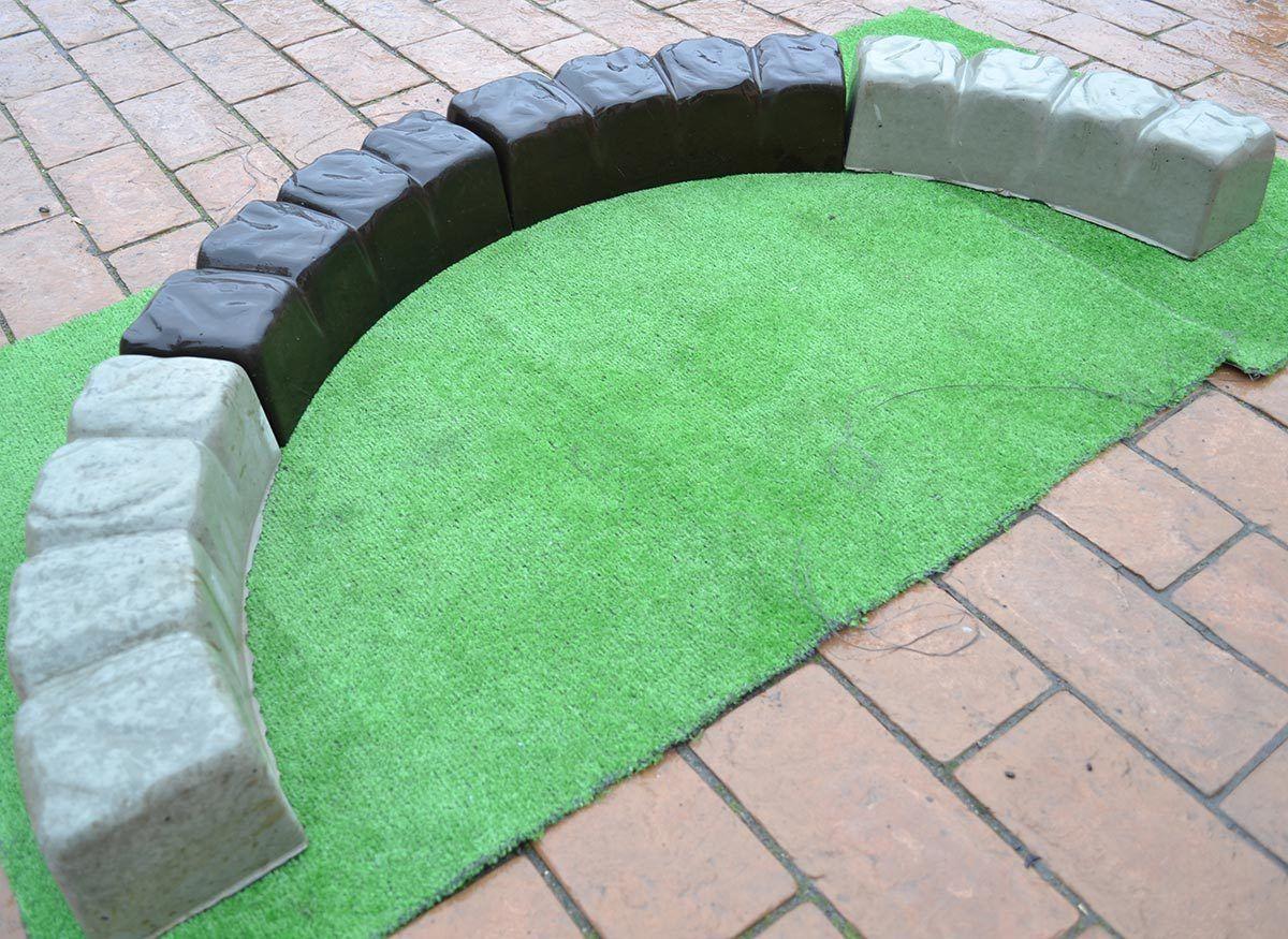 2 Piece/Lot MOLDS 47.2 Inch ROUND EDGE STONE CONCRETE MOLD Edging Border  ABS Plastic Garden DIY Round Decor Brick Maker