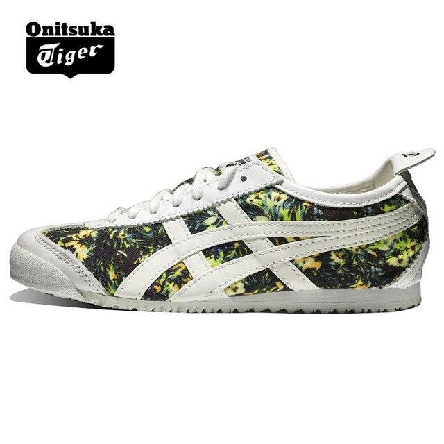 5f7b8440cc67 Original ONITSUKA TIGER MEXICO 66 Shoes Men s Women Leather white Camo  Unisex Low Classic Sneakers Badminton shoes TH6R0N-0101