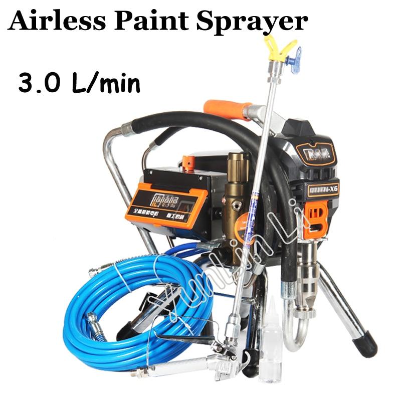 3.0L Airless Paint Sprayer X6 Professional Airless Spray Gun 23MPA 3000W 220V High Pressure Airless Painting Machine Spraying