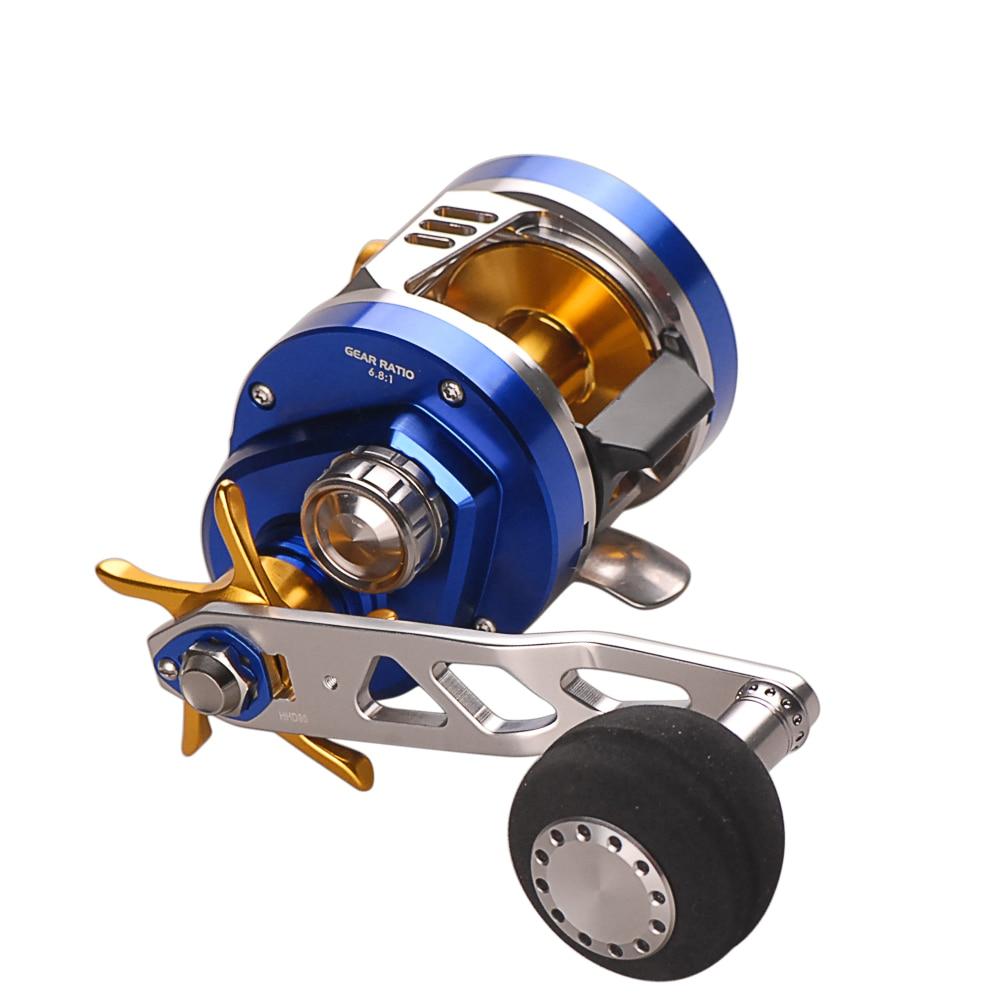 Smart Right or Left Hand Slow Jigging Reel 11BB 6.8:1 Bait Casting Fishing Reel Carretilhas De Pescar Sea Fishing Molinete Peche