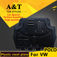 car styling For vw poloPlastic engine guard 2005 2014 For polo Engine skid plate fender alloy steel engine guard Car Accessories