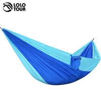 Outdoor Survival Camping Hammock 210T Polyester High Strength Parachute Hamac Hanging Sleeping Bed Single Person Leisure