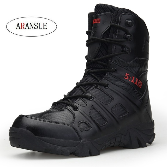 ARANSUE Fashion Men Tooling boots spring autumn winter Outdoor military boots shoes cotton fabric zip high boot Pu leather
