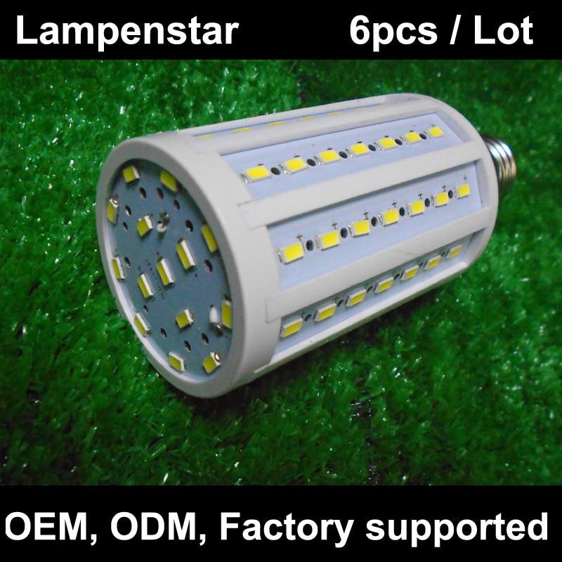 E27 Corn Light Bulb 5W 10W 15W 20W 22W 25W 30W LED 5630 SMD220V High brightness Lamp warm white/white/Cool white 6pcs/lot