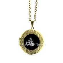 2017 Maxi Necklace Collier Attractively New Lovely Fashion Image, Tugra Osmanli Logo Wedding Personalize Locket Necklace T576(China)