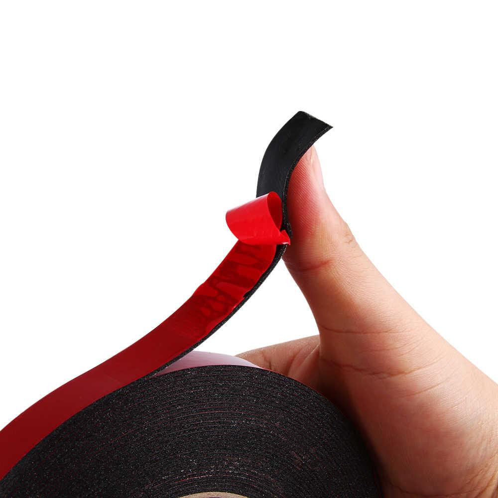 Fita adesiva dupla face, fixação de espuma acrílica para guarnição de carro, material de artesanato multiuso para casa, 1 peça, 10m