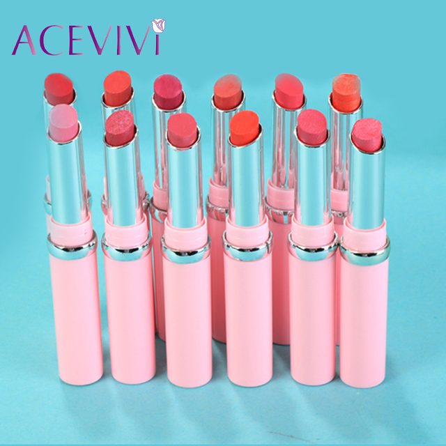 Fashion Waterproof 12pcs/set Different High Quality Makeup Cosmetic Lipsticks 1.7g easy to wear Pro Matte Lipstick Nude 31