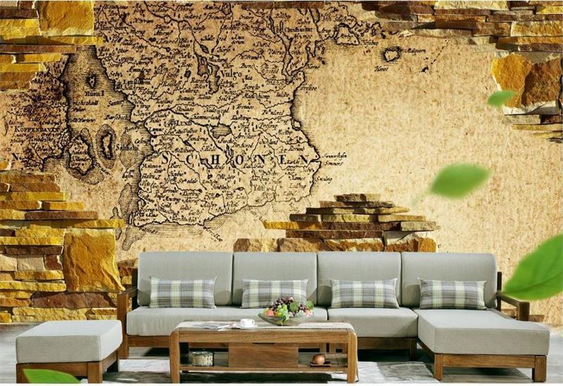 Online kopen wholesale oude stenen muren uit china oude stenen muren groothandel - Behang voor restaurant ...