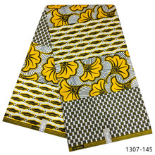 2019 New Arrival Nigeria Ghana 100% polyester material african wax fabric prints Free shipping 1307-144