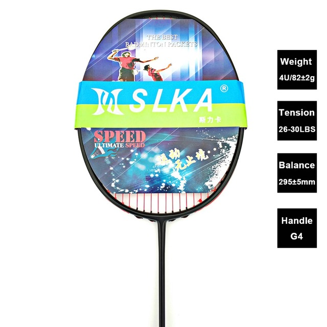 Professional Carbon Badminton Racket 30 LBS Strung Badminton Racquet with Bag Training Rackets free Grips and Wristband