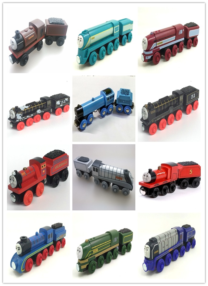 RARE NEW HIRO &TRUCK Original Thomas And Friends Wooden Magnetic Railway Model Train Engine Boy / Kids Toy Christmas Gift