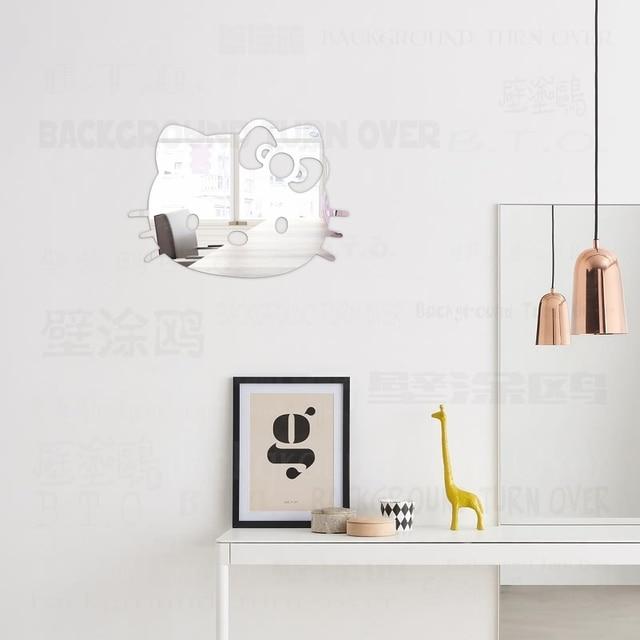 US $9.1 48% OFF Hallo Kitty Katze Dekorative 3D Acryl Spiegel Wandaufkleber  Für Kinderzimmer Kinder Wohnzimmer Schlafzimmer Wohnkultur Dekoration R108  ...