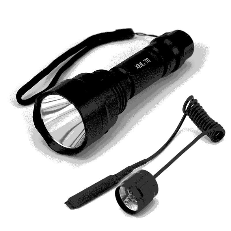 6000Lumens Flashlight Linterna LED XM-L2 Tactical Flashlight Aluminum Hunting Flash Light Torch Lamp +18650+Charger+Gun Mount