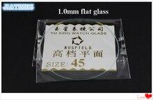 118 pièces 1.0MM dépaisseur verre de montre minéral plat sélectionnez la taille de 16mm à 45mm pour les horlogers et la réparation de montres
