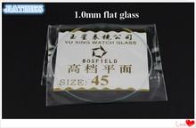 118pcs 1.0MM עבה שטוח מינרלים שעון זכוכית בחר גודל מ 16mm כדי 45mm עבור השענים שעון תיקון