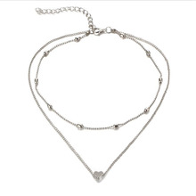 Best Tri Color Gold Heart Necklace Cheap