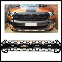 HIGH QUALITY 2016 RANGER GRILL ABS BLACK FRONT GRILL SURROUNDS TRIM FOR RANGER WILDTRAK 2016 T7 PICK UP RANGER GRILL WITH LED