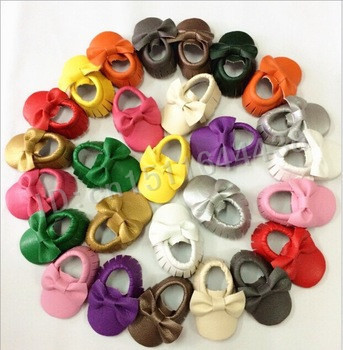 2015 15pcs newborn babies shoes edge design first walker PU leather baby toddler shoes the lowest price and soft baby moccasins