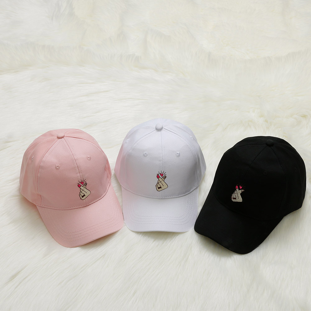 1 Pcs Love Embroidery Finger Gestures Casual Baseball Cap
